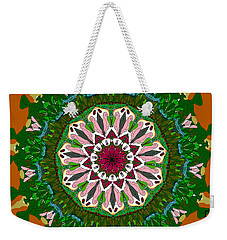 Weekender Tote Bag featuring the digital art Garden Party #2 by Elizabeth McTaggart