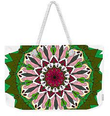 Weekender Tote Bag featuring the digital art Garden Party by Elizabeth McTaggart