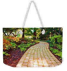 Garden Path Weekender Tote Bag by Michelle Joseph-Long