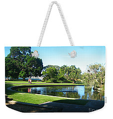 Weekender Tote Bag featuring the photograph Sydney Botanical Garden Lake by Leanne Seymour
