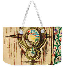 Garden Through The Key Hole Weekender Tote Bag