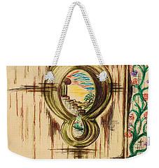 Garden Through The Key Hole Weekender Tote Bag by Teresa White