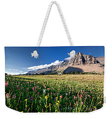 Garden Wall At Dusk Weekender Tote Bag by Aaron Aldrich