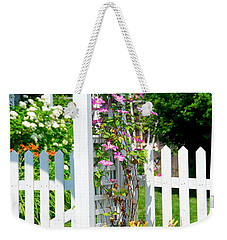 Garden With Picket Fence Weekender Tote Bag