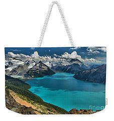Garibaldi Lake Blues Greens And Mountains Weekender Tote Bag by Adam Jewell