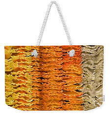 Weekender Tote Bag featuring the photograph Garlands by Mini Arora