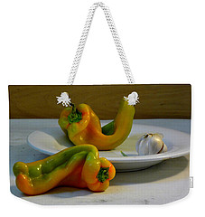 Garlic And Peppers Weekender Tote Bag