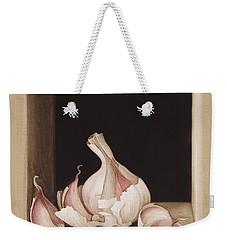 Garlic Weekender Tote Bag by Jenny Barron