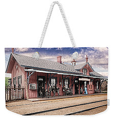 Garrison Train Station Colorized Weekender Tote Bag