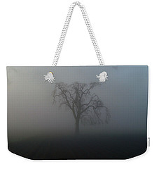 Weekender Tote Bag featuring the photograph Garry Oak In Fog by Cheryl Hoyle