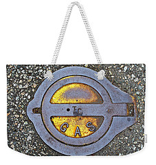 Weekender Tote Bag featuring the photograph Gas Cap by Ethna Gillespie