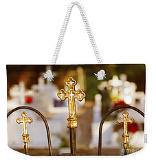 Weekender Tote Bag featuring the photograph Louisiana Cemetery by Luana K Perez