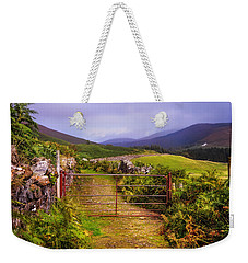 Gates On The Road. Wicklow Hills. Ireland Weekender Tote Bag