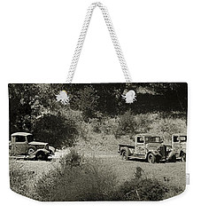 Gathering Black And White Weekender Tote Bag