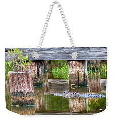 Gator At The Old Trestle Weekender Tote Bag