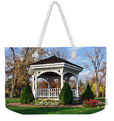 Weekender Tote Bag featuring the photograph Gazebo At Olmsted Falls - 1 by Mark Madere