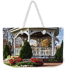 Weekender Tote Bag featuring the photograph Gazebo At Olmsted Falls - 3 by Mark Madere