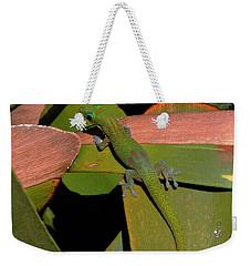 Gecko Weekender Tote Bag by Pamela Walton