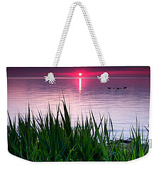 Geese At Sunrise Weekender Tote Bag