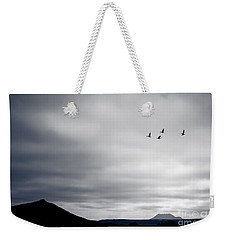 Geese Flying South For Winter Weekender Tote Bag