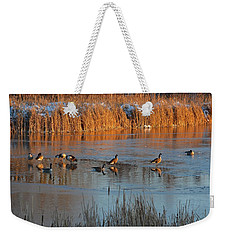 Geese In Wetlands Weekender Tote Bag