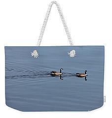Geese Reflected Weekender Tote Bag by Leone Lund