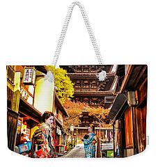 Geisha Temple Weekender Tote Bag