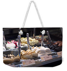 Weekender Tote Bag featuring the photograph Gelato by Rona Black