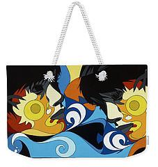 Gemini Painting With Hidden Pictures Weekender Tote Bag