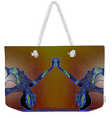 Weekender Tote Bag featuring the photograph Geminis Skaters by Irma BACKELANT GALLERIES