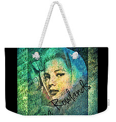 Weekender Tote Bag featuring the digital art Gena Rowlands by Absinthe Art By Michelle LeAnn Scott