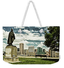 General Smith Overlooks Baltimore Harbor Weekender Tote Bag