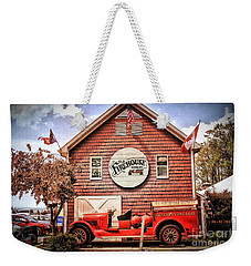 Weekender Tote Bag featuring the photograph Geneva On The Lake Firehouse by The Art of Alice Terrill