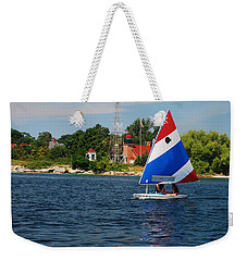 Gentle Sails And Little Traverse Lighthouse Weekender Tote Bag