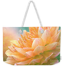 Gently Textured Dahlia  Weekender Tote Bag