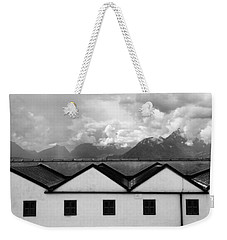 Geometric Architecture In Black And White Weekender Tote Bag