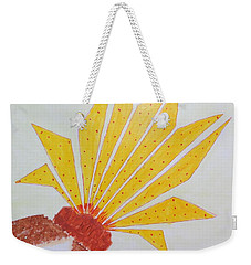 Geometric Blooming Lotus Weekender Tote Bag by Sonali Gangane