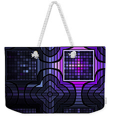 Weekender Tote Bag featuring the digital art Geometric Stained Glass by GJ Blackman