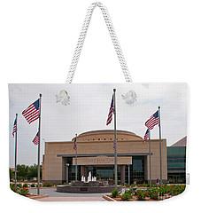 George Bush Presidential Library Weekender Tote Bag by Mae Wertz