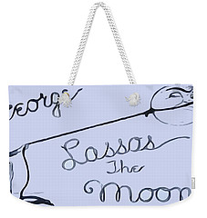 George Lassos The Moon Weekender Tote Bag