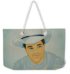 Weekender Tote Bag featuring the painting George by Marisela Mungia