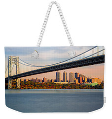 George Washington Bridge In Autumn Weekender Tote Bag