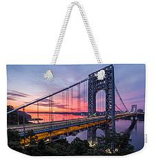 George Washington Bridge Weekender Tote Bag by Mihai Andritoiu