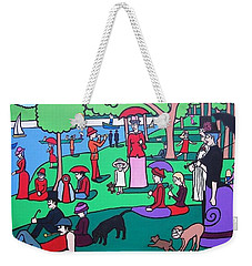 George Seurat- A Cyclops Sunday Afternoon On The Island Of La Grande Jatte Weekender Tote Bag by Thomas Valentine