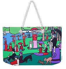 George Seurat- A Cyclops Sunday Afternoon On The Island Of La Grande Jatte Weekender Tote Bag