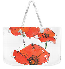 Georgetown Texas The Red Poppy Capital Weekender Tote Bag by Kathleen McElwaine