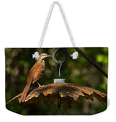 Georgia State Bird - Brown Thrasher Weekender Tote Bag