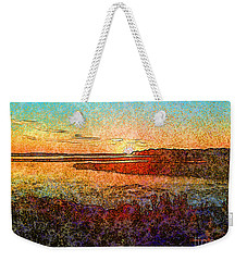 Georgian Bay Sunset Weekender Tote Bag by Claire Bull