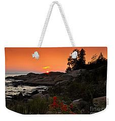 Georgian Bay Sunset Weekender Tote Bag by Les Palenik