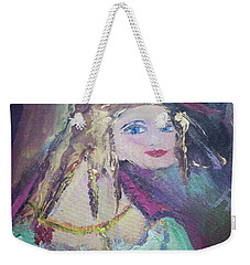 Georgiana And The Ring Weekender Tote Bag by Judith Desrosiers